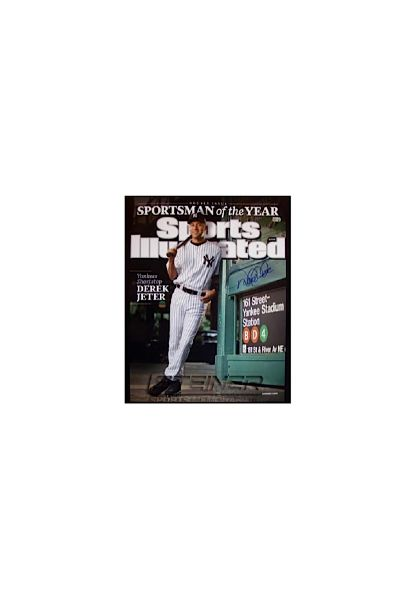 "Derek Jeter Autographed ""Sportsman of the Year"" Sports Illustrated Cover 16x20 Photo (MLB Auth) (Steiner COA)"